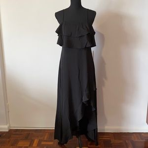 New with Tag Wildfire Maxi Dress Black Ruffles Size AU 12 Polyester